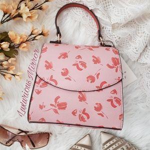 A New Day Pink Floral Print Crossbody Shoulder Bag